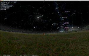 Pantalla Stellarium
