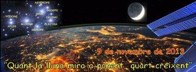 Logo Taller Observació Celeste Quan la Lluna mira a Ponent, Quart Creixent