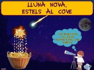 Logo Lluna Nova, estels al cove.