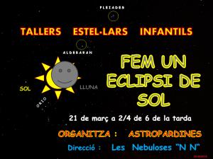 Logo Taller estel·lar infantil-Fem un eclipsi de sol