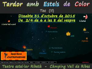 Logo Taller d'Observació Celeste-Tardor amb Estels de Colors (II)-31.10.2015