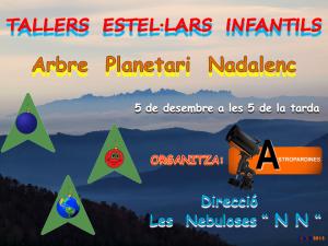Logo Taller Estel·lar Infantil-Arbre Planetari Nadalenc-Ribes de Freser-5.12.2015