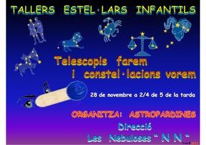 logo taller estel·lar infantil-telescopis farem i constel·lacions vorem - 28.11.2015
