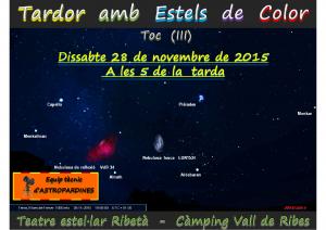 Logo Taller d'Observació Celeste-Tardor amb Estels de Color (III)-28.11.2015-Ribes de Freser
