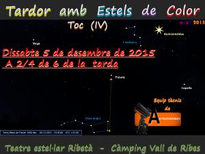 Logo Taller d'observació celeste-Tardor amb estels de color (IV)-Ribes de Freser-5.12.2015