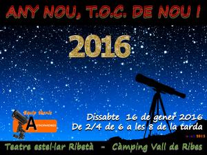 Logo Taller d'Observació Celeste-Any nou, Toc de Nou ! - 16.1.2016-Ribes de Freser