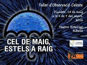 TALLER D'OBSERVACIÓ CELESTE - CEL DE MAIG, ESTELS A RAIG - 14.5.2016 - RIBES DE FRESER - ASTROPARDINES - LOGO
