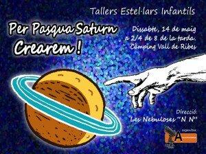 Taller Estel·lar Infantil - Per Pasqua Saturn Crearem - 14.05.2016 - Ribes de Freser - Logo