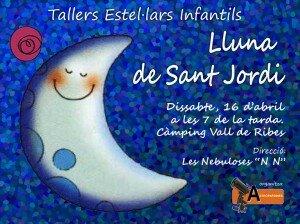 Taller Estel·lar Infantil - Lluna de Sant Jordi - 16.4.2016 - Ribes de Freser - AstroPardines - Logo