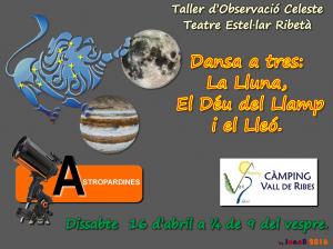 Taller d'Observació Celeste - Dansa a tres: La Lluna, El Déu del Llamp i El Lleó-16.4.2016-Ribes de Freser-Logo