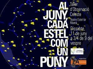 LOGO Al Juny, cada estel com un puny -Ribes de Freser-11.06.2016-Taller Estel·lar Infantil
